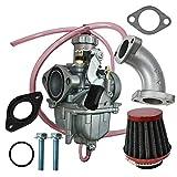 Sundey Vm22 de 26Mm Tubo de Entrada del Filtro de Aire del Carburador para la Motocicleta Mikuni 110Cc 125Cc 140Cc Pit Dirt Bike Pitpro Atv Ssr