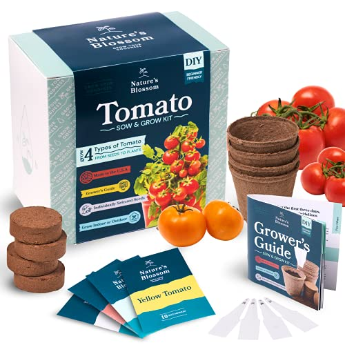 Nature's Blossom Tomato Garden Kit. Grow 4 Types of Tomatoes from Seed....