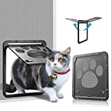OWNPETS Pet Screen Door,Inside Door 8x10x0.4 inch,Lockable Magnetic...