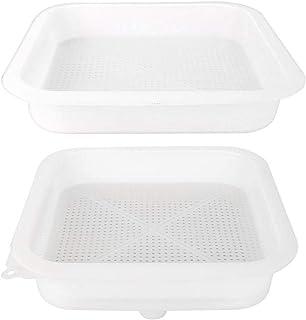 Atyhao Zweischichtiges Honigsieb, Honigfilter-Mesh-Filtersieb für die Imkereiausrüstung in Lebensmittelqualität