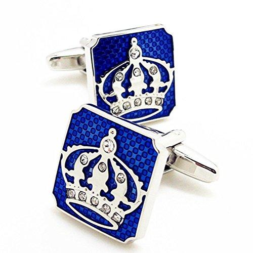 Covink® Krone Manschettenknöpfe mit einer Präsentation Geschenkbox Mode Manschettenknöpfe Krone Valentinstag Cuff Button