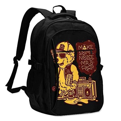 JSDF USB Backpack Geek Spelunky2 School Business Durable16 Inch Laptops Bag Charging Port Gifts Men Women Student