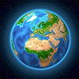 Earth (Africa & Europe) - [3 Cards] Lenticular 3D Postcards - Each 8x8 Greeting Card - Maxi