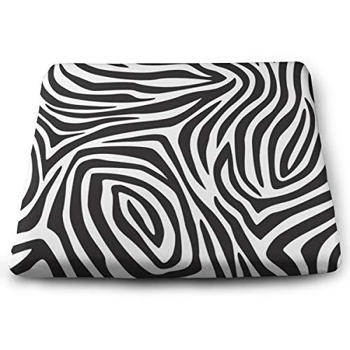 Funny Z Modisches Zebra Stripes Nahtloses Muster rutschfeste Elastizität Schaum Stuhl Auflagen Quadratisches Sitzkissen für Büro Sofa Haus
