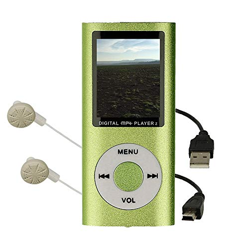 Reproductor MP4 con Pantalla LCD, Visor de Fotos, Reproductor de Video, Lector e-Book, Radio FM, Grabadora de Voz, Color Verde