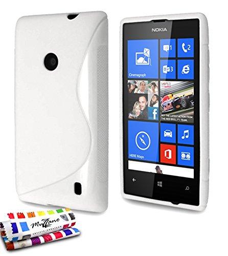MUZZANO Original S-Cover Flessibile, per Nokia Lumia 520, Colore: Bianco
