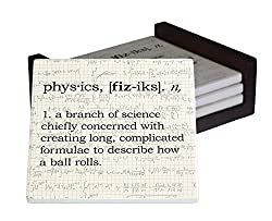 gifts for physics geeks ~ coaster set