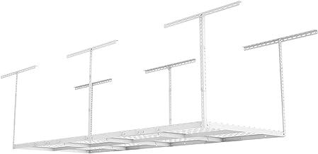 FLEXIMOUNTS 3×8 Overhead Garage Storage Rack Adjustable Ceiling Storage Rack Heavy..