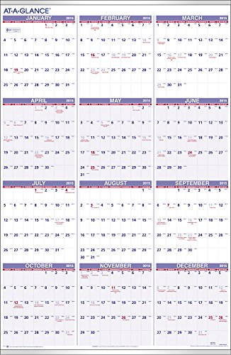 AT-A-GLANCE Yearly Wall Calendar 2015, 24 x 36 Inch Page Size (PM12-28)