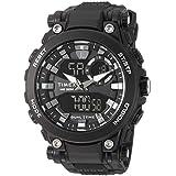 Timex Men's TW5M30600 DGTL Analog-Digital 50mm Black Resin Strap Watch