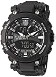 Timex Men's TW5M30600 DGTL Analog-Digital 50mm Black Resin Strap Watch