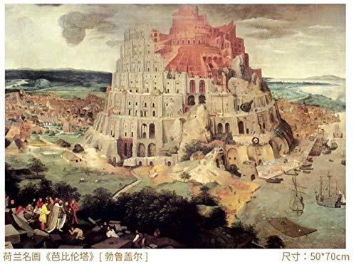 CTDMMJ Adult Puzzle 1000 Stück Papier Lernspielzeug Geschenk-1000- Babylon Tower
