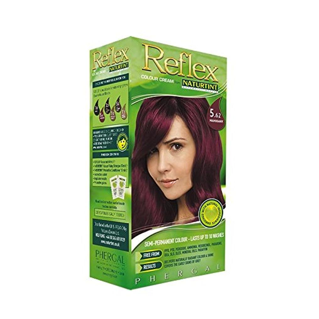 セメントリビングルームあたたかいNaturtint Reflex Non Permanent Colour Rinse 5.62 Mahogany (Pack of 6) - Naturtint反射非永久的な色は5.62マホガニーをすすぎます (x6) [並行輸入品]