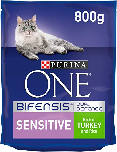 Purina One Sensitive Turkey and Rice 800 g, Pack of 4