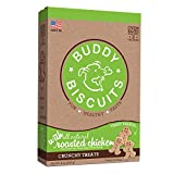 Healthy dog treats – wholesome, oven baked dog Biscuits that keep things deliciously simple with natural chicken. Just 5 ingredients – Buddy Biscuits Dog Snacks are made with no added corn, soy, yeast, sugar, salt, fillers, artificial flavors or addi...
