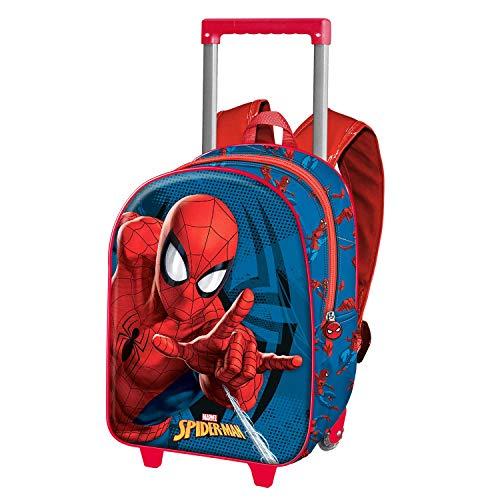 Karactermania Spiderman Crawler - Mochila 3D con Ruedas Pequeña, Multicolor