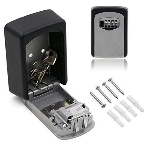 Sumnacon セキュリティキーボックス ダイヤル式 壁掛け 鍵 ボックス 暗証番号 収納 (サイズ 1)