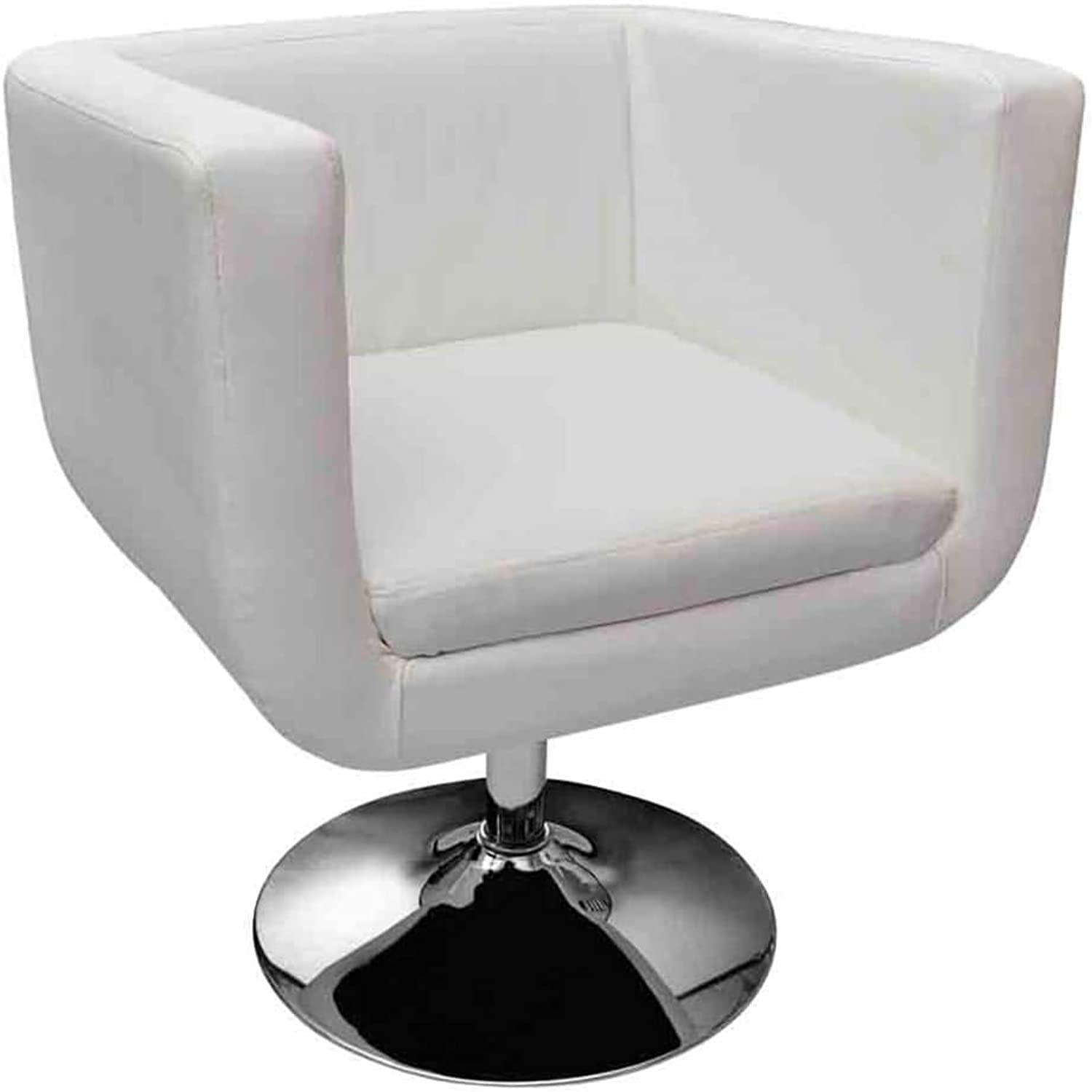 VidaXL French Leather Dining Armchair Retro Wingback Sofa Wing White Style