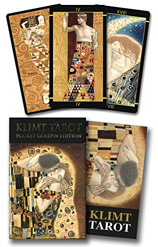 Golden Tarot of Klimt Mini Deck: Pocket Gold Edition