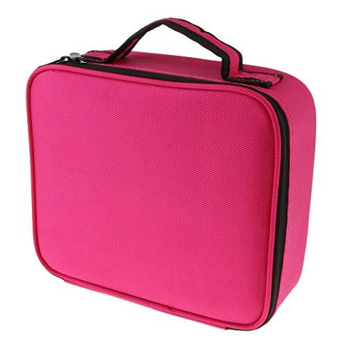 Bonarty Grand Sac De Maquillage Pochette De Voyage Pour Organisateur - Rouge rosé, S