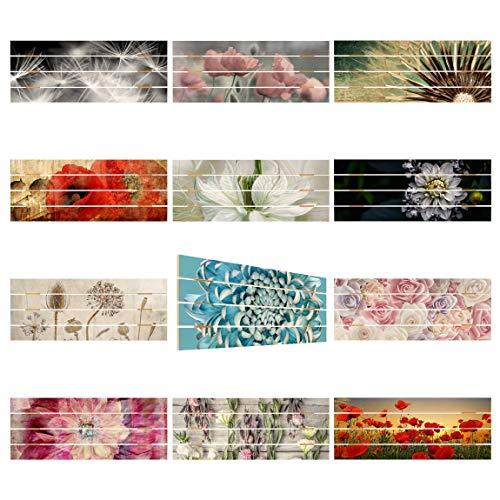 Bilderwelten Cuadro de Madera Flowers & Floral Apaisado 2:5, Motivo:Poppy Flower 40x100cm