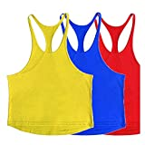 ZUEVI Men's Muscular Cut Bodybuilding Gym Vest Y-Back...