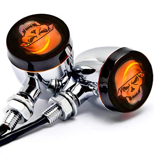 Krator 2pcs Skull Lens Chrome Mo...