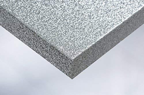 Cover Styl 28,35€/m² Premium Klebe Folie Glanz Glitzer Optik R7 - Disco Silber Deko Möbelfolie Selbstklebend Struktur 122cm Breite