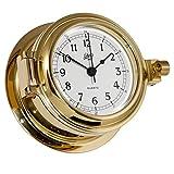Schatz Ships Clock Solid Brass Success arabian 3?? dial -