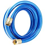 Solution4Patio Homes Garden Hose Short 3/4 in. x 10 ft. Water Hose Blue Lead-Hose Male/Fem...