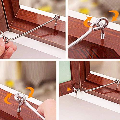 Product Image 7: ZXUEZHENG 4Pcs 1.5 inches Cabin Hook Eye Latch Gate Door Swivel Window Door Hook with Mounting Screws