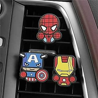 Emmi 3pcs/Set Cute Automobile Car Vent Perfum Clip for Marvel Avengers Hero Figure Auto Interior Decoration Air Freshener Accessories (1)
