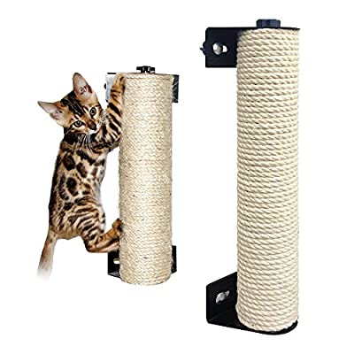 IXI LOHOME Cat Scratching Post - The Cat Scratching Pole Designed for Cage Cat Scratcher Made by Sisal Cat Cage Scratching Post Cat Furniture (2.7 x 15.7 inch)