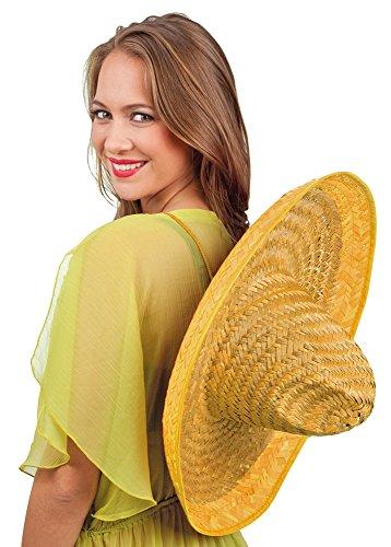 Das Kostümland Sombrero Santiago Natur und gelb 50 cm