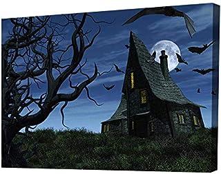 Modern Canvas Tableau - Scary House - Multicolor - 2724630074948