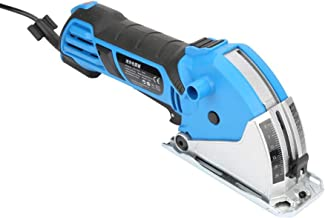 Mini sierra circular eléctrica, 550W portátil de aleación de aluminio multifuncional DIY Mini kit de sierra circular eléctrica para madera, metal blando, azulejos, cortes de plástico