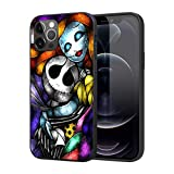 Compatible with iPhone 12 iPhone 12 Pro, Soft TPU Silicone Slim Case (Nightmare-Before-Christmas-Jack-Sally)