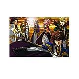 Code Geass Lelouch of The Rebellion Anya Alstreim X Charles Zi Britannia X Gino Weinberg Anime-Poster, dekoratives Gemälde, Leinwand, Wandkunst, Wohnzimmer, Poster, Schlafzimmer, Gemälde, 40 x 60 cm