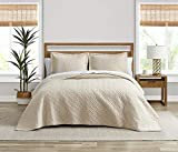 Tommy Bahama Chevron Collection Quilt Set-100% Cotton, Lightweight, All Season Bedding, Pre-Washed for Added Softness, King, Dune