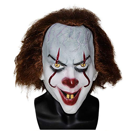 JNKDSGF Horror maskMovie Latex Joker Masker Pennywise Clown Masker Rood Circus Haar Enge Masker Op voorraad