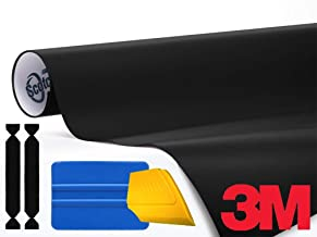 3M 1080 Satin Black Air-Release Vinyl Wrap Roll Including Toolkit (1ft x 5ft)