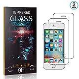 Ramcox Displayschutzfolie für iPhone SE/iPhone 5 5s, 9H Härte Anti Fingerprint Displayschutz, 3D Touch Schutzfilm aus Gehärtetem Glas, 2 Stück -