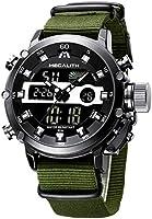 MEGALITH Mens Watches Men Digital Analog Sports Military LED Large Face Designer Waterproof Black Wrist Watch...