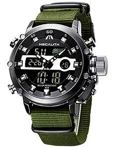 Reloj Hombre Digital Militar Reloj Analogico Digital Hombre Grandes Deportivo Cronometro LED Relojes de Pulsera Impermeable Calendario