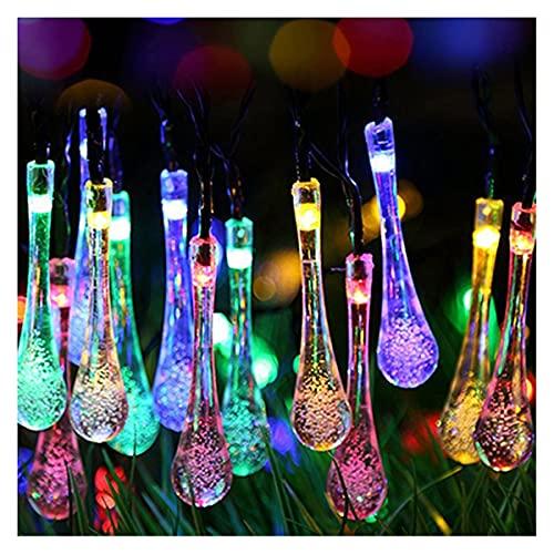 TIEHH Luces de Cuerdas solares, Luces de Cadena Solar de Color Multicolor, Luces de Cadena Solar al Aire Libre, luz del césped 8Mode Luces de Cuerdas RGB, para la decoración de jardín al Aire Libre