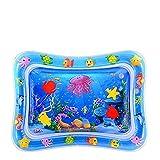 Wassermatte Baby, Wasser-Spielmatte mit Spaß Aktivitätszentrum von Spielzeug Das Wachstum von Kindern Stimulieren Aufblasbare und Wasserfüllung Wasserpark des Frühen Kindes (Qualle)
