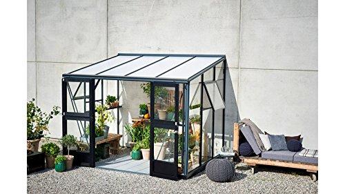 Juliana Anlehngewächshaus Veranda 6,6, BxT: 296x221 cm, schwarz-silber schwarz, silberfarben