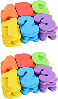 TOYANDONA 2 Sets Bath Letters Numbers Foam Alphabet Numbers Bathtub Toys Stickers for Baby Toddlers Bathroom Early Learnin...
