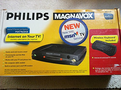 Philips Magnavox Internet TV Terminal: Model # MAT965KB, with Wireless Keyboard Included - Webtv Classic