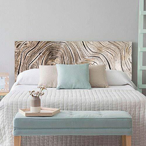 setecientosgramos Cabecero Cama PVC   WoodTree   Varias Medidas   Fácil colocación   Decoración Dormitorio (150x60cm)